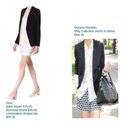 blazer and shorts outfits