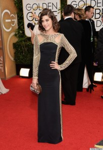Lizzy Caplan in Emily Pucci