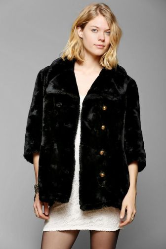 Urban Renewel Cropped Faux Fur Jacket