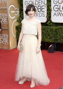 Zooey Deschannel in Oscar de la Renta