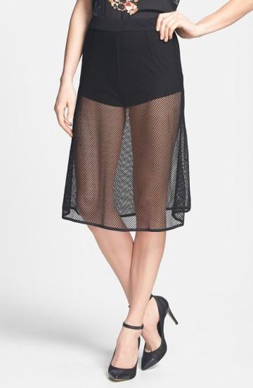 Dirty Ballerina Mesh A-line Skirt: $23.98