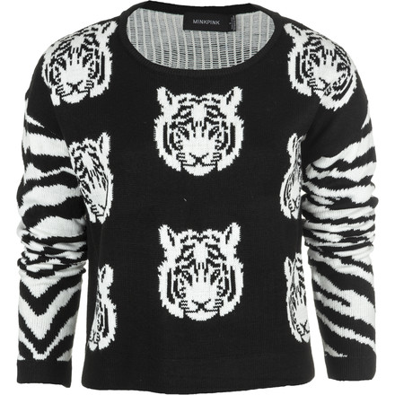 Mink Pink Tiger Time Knit Sweater
