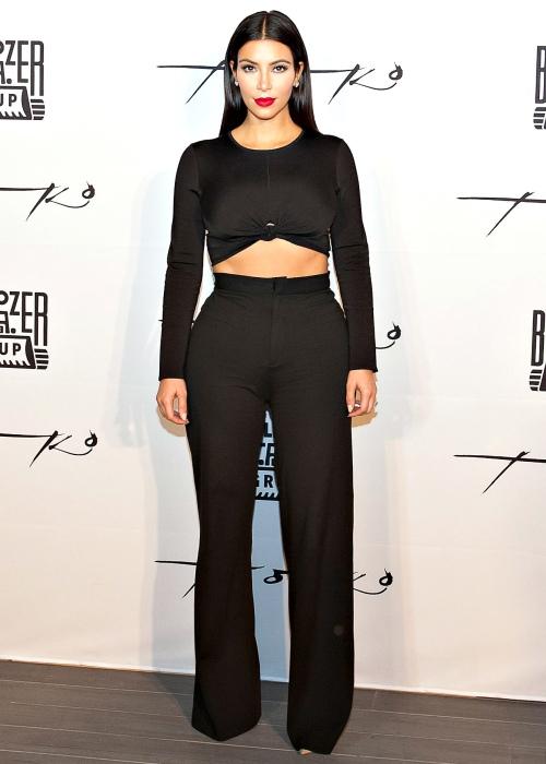 Kim Kardashian Wide Leg Pants