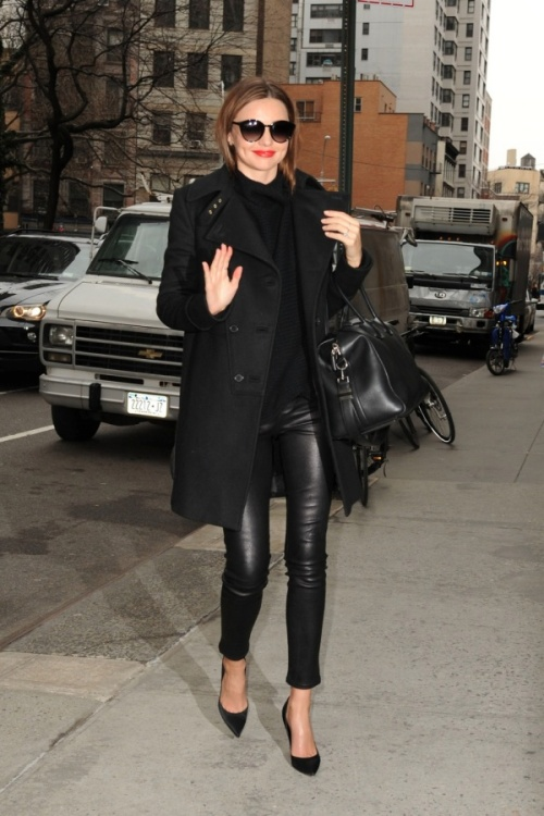 Miranda Kerr_Leather Pants