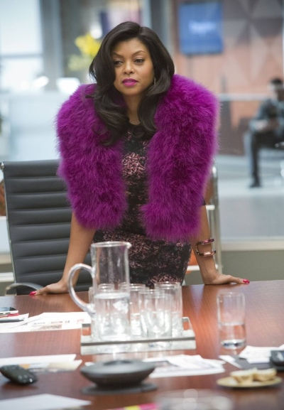 cookie-lyon-purple-fur-vest-floral-dress