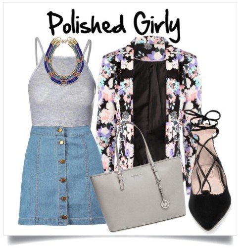 You are girly girl who is well put together. You have an eye for the little details that make an outfit pop!