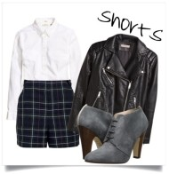 Toughen up a school boy chic look with a leather jacket and booties.