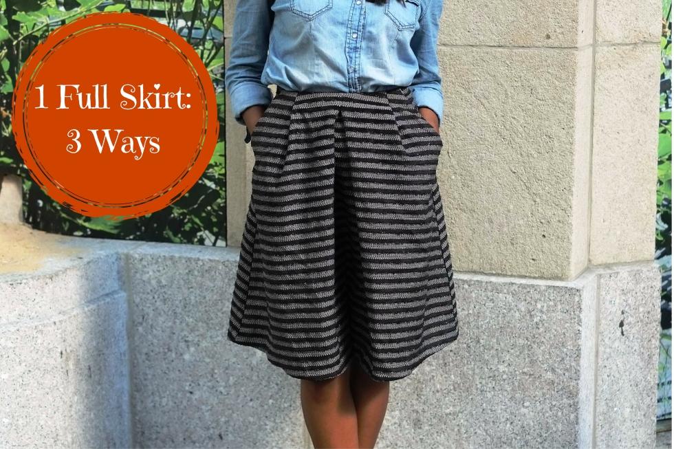1 Full Skirt-3 Ways