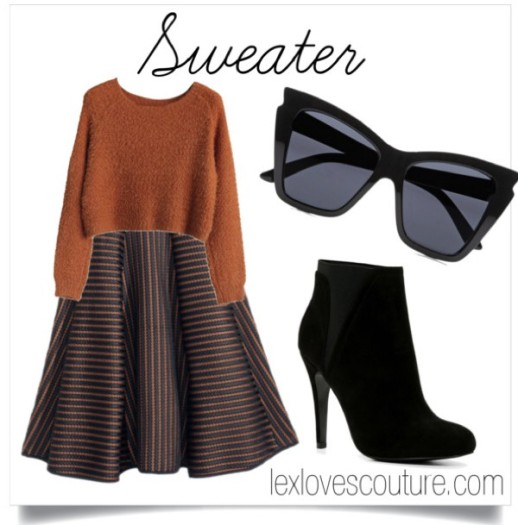 Sweater & Full Skirt