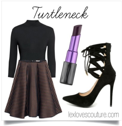 Turtleneck & Full Skirt
