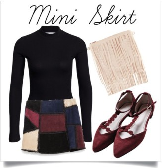 A mini looks great with flats because they make your legs look longer no matter what height you are! Flats
