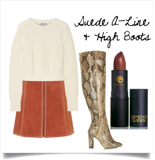 Suede is one of the hottest trends for the fall so not only will you be comfy you will be stylish as well. Pair it with a pair of high boots so that you can skip the tights!