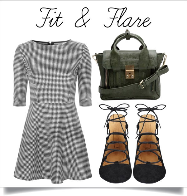 Try pairing a feminine fit and flare dress with flats. It will be so chic and adorable! Flats