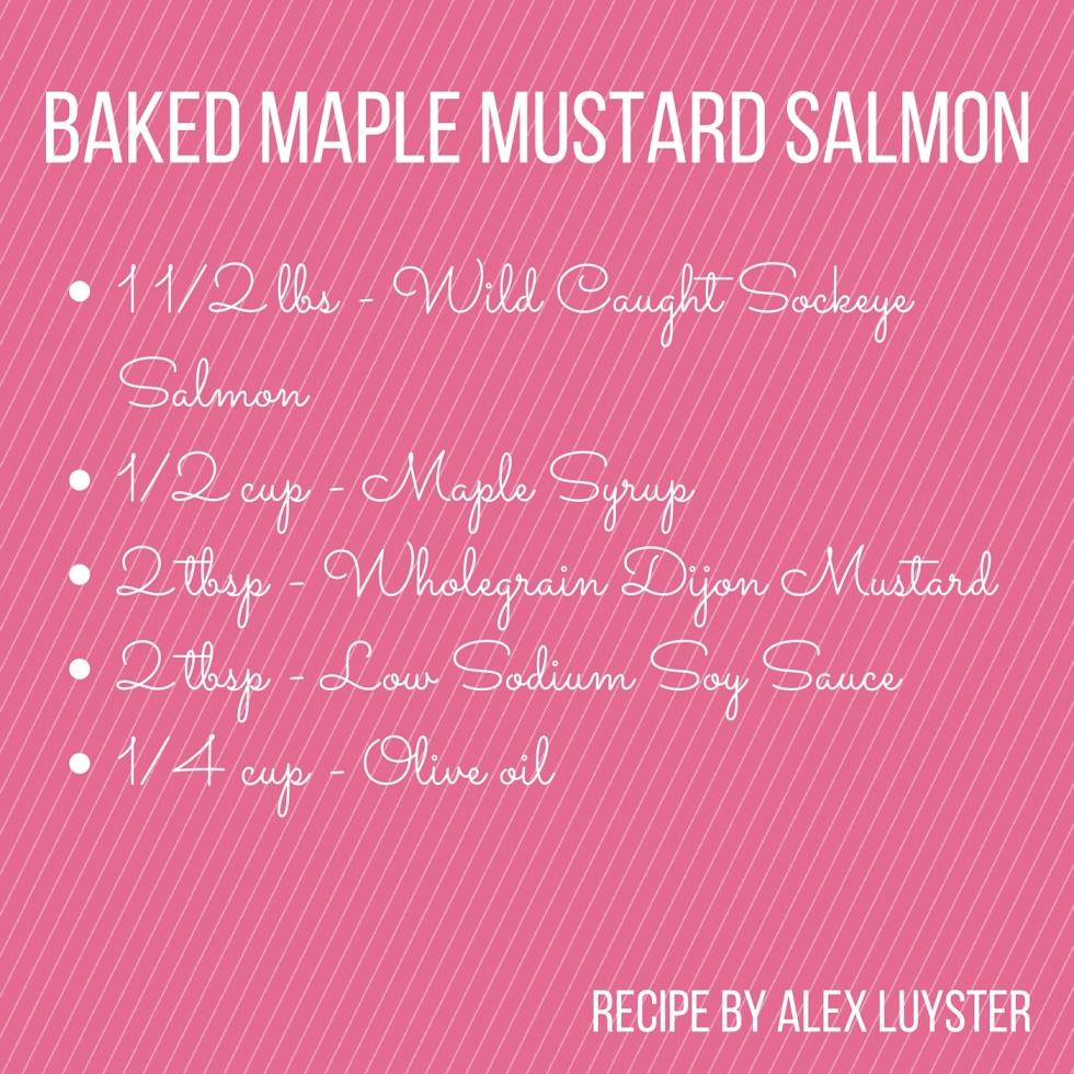 Baked Maple Mustard Salmon