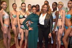 Martha Luna of MDoll NYC and designer Gionna Nicole with models