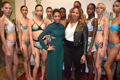 Martha Luna of MDoll NYC and designer Gionna Nicole with models