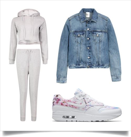 Set | Denim Jacket | Sneakers