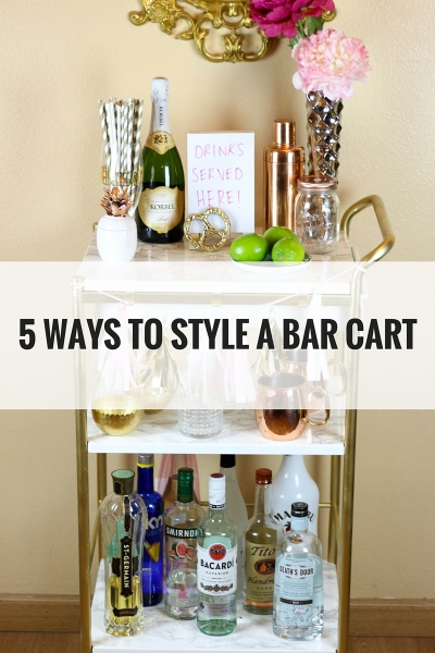 5 Ways to Style a Bar Cart