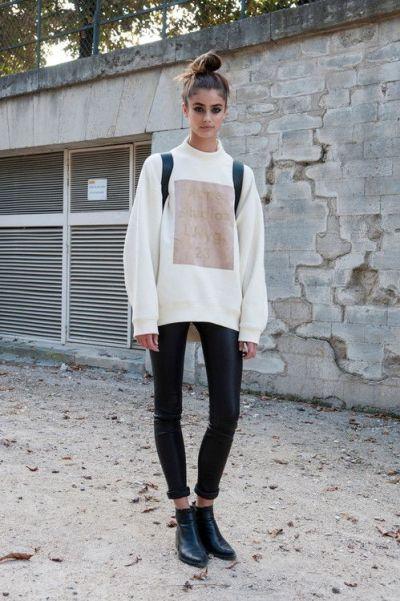 Oversized Sweatshirt Street Style