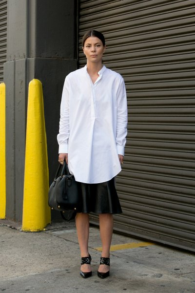 Oversized Button Down Street Style