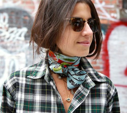 Turn a scarf into a choker -- Go in a surprising direction and make your silk scarf a choker. It is different, so you can guarantee none of your other friends with be wearing it that way!