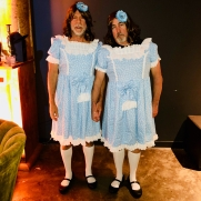 "Bruce Willis & Pal as twins from ""The Shining"""