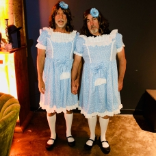 """Bruce Willis & Pal as twins from """"The Shining"""""""