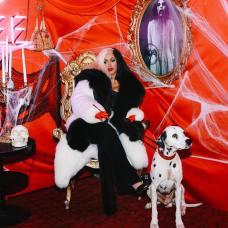 "Cardi B as Cruella de Vil from ""101 Dalmatians"""