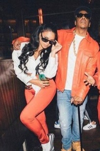 Jay-Z and Beyonce as Biggie Smalls and Lil Kim
