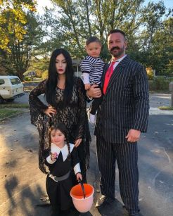 JWoww & Family as Addams Family