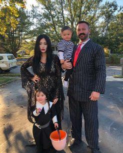 JWoww & Family as Addams Family