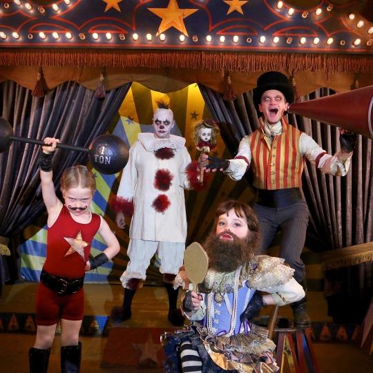 Neil Patrick Harris & Family as Carnival Folk