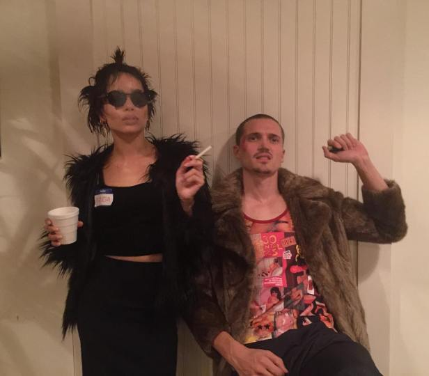 "Zoe Kravits & Karl Glusman as Marla & Tyler from ""Fight Club"""